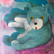 "Dean Hills ""Bunny from above I"" 2009, oil on canvas, 230 x 230 cm"