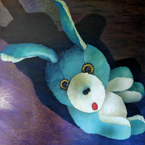 "Dean Hills ""Bunny from above II"" 2009, oil on canvas, 230 x 230 cm"